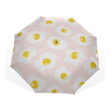8d6c65ca1646 Amazon.com: Sun Beach Umbrella Fried Eggs Yummy Breakfast 3 Fold Art ...