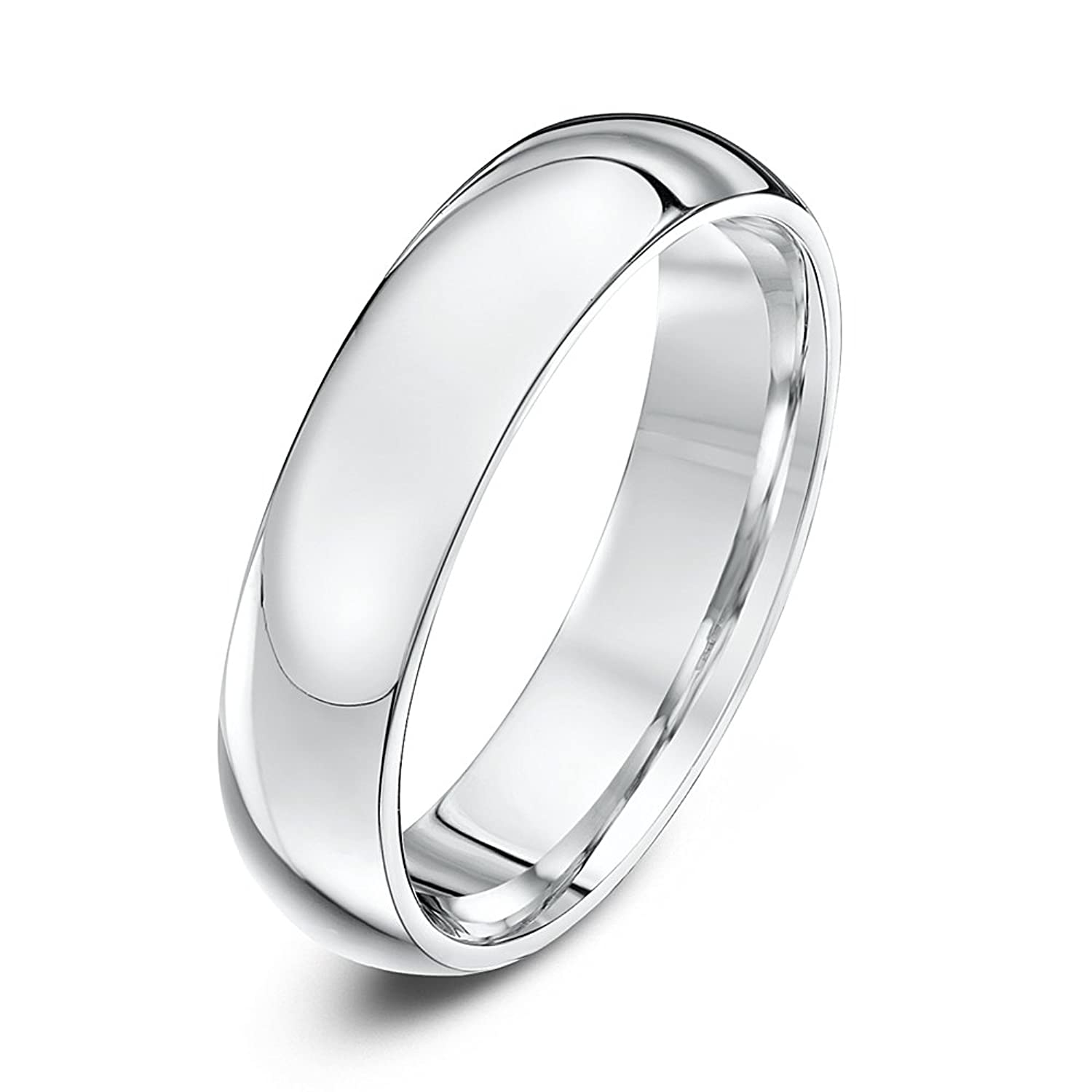 Palladium 5mm Heavy Weight Court Shape Wedding Ring Amazon