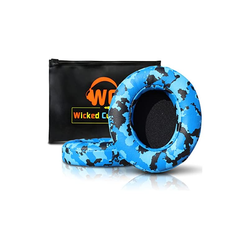 Beats Replacement Ear Pads by Wicked Cushions - Compatible with Studio 2.0 Wired/Wireless and Studio 3 Over Ear Headphones by Dr. DRE ONLY (Does NOT FIT Solo) - Blue Camo