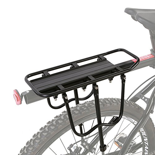 Estink Bike Rear Rack, Aluminum Alloy Bicycle Rear Seat Frame Mount Luggage Cargo Rack Shelf with Stand and Fender Board for Mountain Bike