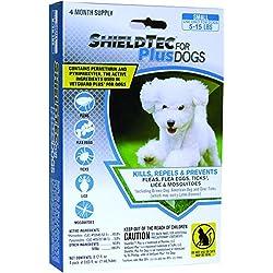 ShieldTech - DROPS - KILLS Flea Tick Lice Mosquitoes Eggs - Protection (4 dose) SMALL DOG (5-15 lbs)