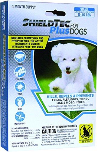 ShieldTec Plus – KILLS Flea Tick Lice Mosquitoes Eggs – Dog Medicine, Protection – 100% MADE IN THE USA