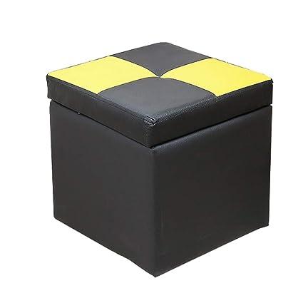 Amazon.com: Footstool Sofa Creative Storage Stool Wooden ...