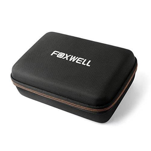 FOXWELL Hard Protection Carrying Case for NT301 Obd2 Code Reader Check Engine Light Scanner and NT510 Diagnostic Scan Tool - Polyester Fibre & EVA Travel Case (Black)