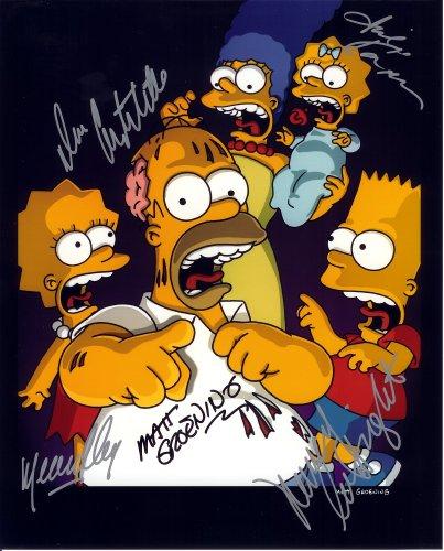 The Simpsons Cast Signed Autographed 8 X 10 Reprint Photo - Mint Condition from Nostalgic Cards & Autographs