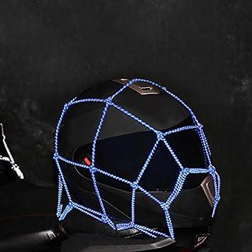 40 Organizzatore di stoccaggio per Casco da Rete Resistente Super Resistente Vvciic Copri valigie per Biciclette da Moto 40 Rete da carico Nera
