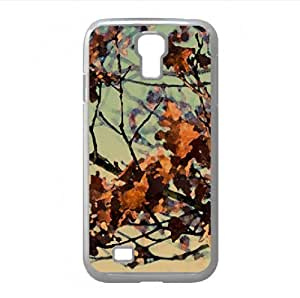 Dried Autumn Leaves Watercolor style Cover Samsung Galaxy S4 I9500 Case (Autumn Watercolor style Cover Samsung Galaxy S4 I9500 Case)