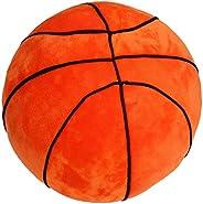 T Play Plush Basketball Pillow Fluffy Stuffed Basketball Plush Toy Soft Stuffed Basketball Plush Pillows Durab