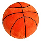 Tplay Basketball Pillow Fluffy Stuffed Plush Basketball Soft Durable Sports Toy Gift for Kids 9'' L X 9'' W X 9'' H
