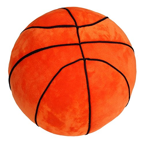 Tplay Basketball Plush Pillow Fluffy Stuffed Plush Basketball Soft Durable Sports Toy Gift for Kids 9