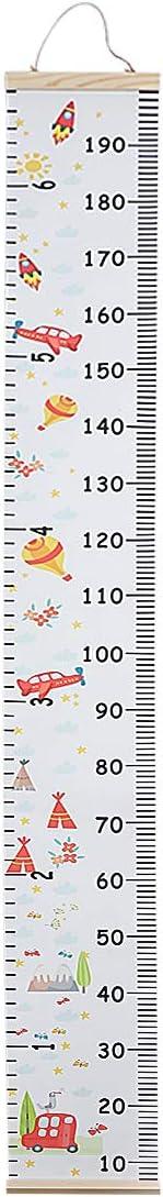 Juanwen Gr/áficos de crecimiento para colgar en la pared Tabla de Crecimiento Ni/ños Regla de Altura Decoraci/ón Habitaci/ón Medidor de Altura Infantil pared decoraci/ón de la habitaci/ón infantil