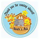 Noah's Ark Thank You Stickers - Birthday and Baby Shower Party Favor Labels - Set of 50