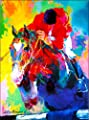 Louisville Kentucky Horse Race Jockey by Leroy Neiman Vintage Travel Home Collectible Wall Decor Advertisement Art Poster Print. Measures 10 x 13.5 inches