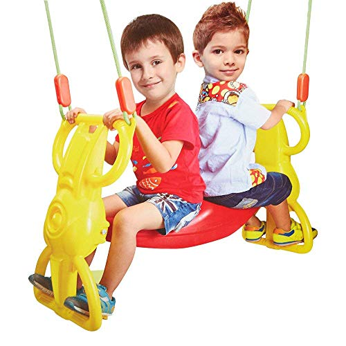 COLORTREE Wind Rider Swing Seat Set Back-to-Back Glider Heavy Duty Dual Ride Set Glider for 2 Kids