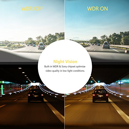 Z-EDGE Z2Pro Dual Dash Cam, 2K Ultra HD 2160P Front & 1080P Rear 5.0'' Ultra Clear IPS Rearview Mirror, Front and Rear Dash Cam, Backup Camera with 150 Degree Viewing Angle, WDR, 16GB card included by Z-EDGE (Image #3)