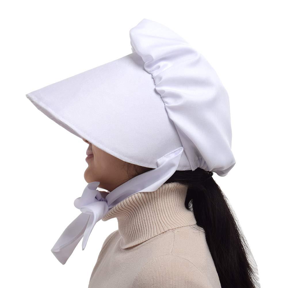 NET TOYS Coiffe Moyen-/Âge Bonnet de Nuit Blanc Bonnet Nuit Coiffe m/édi/éval Coiffe de Domestique Chapeau Domestique Paysanne Couvre-Chef