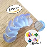 8-pack Baby guards MEDICAL GRADE from Paris Babyhome-Clear Furniture Corner Protectors-Child Proof Corner Safety Bumpers-Baby Proofing Corner Guards- Safety Table Corner Cushion