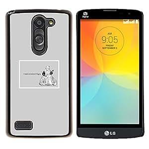 """Be-Star Único Patrón Plástico Duro Fundas Cover Cubre Hard Case Cover Para LG L Prime / L Prime Dual Chip D337 ( Emociones Viagra Cita divertida Vida motivación"""" )"""