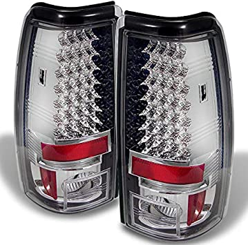 04-06 Gmc Sierra Fleetside Chrome Housing Led Rear Brake Stop Tail Lights Lamps
