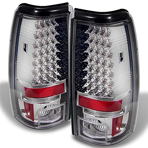 (For 03-06 Silverado 05-07 Silverado Hybrid Pickup Truck Clear LED Tail Lights Brake Lamps Pair L)