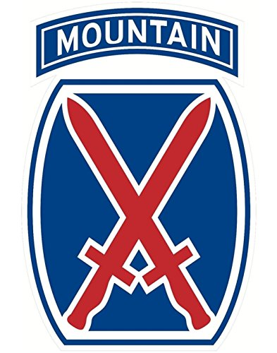 - 1 Pcs Imperial Fashionable US Army 10th Mountain Division Sticker Sign Windows Vinyl Indoor Size 3.5