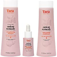 Tara Nature's Formula Onion Remedy Hair & Root Revival System Concentrate, Shampoo and Conditioner Set - Formulated To…