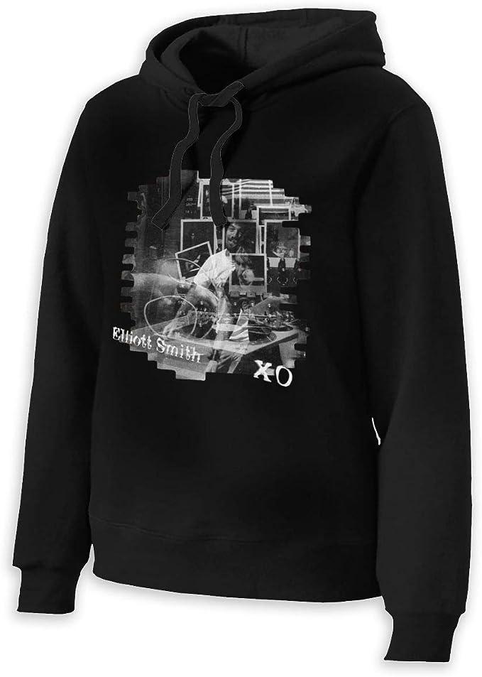 Womens Elliott Smith XO Hoodies Hooded Sweatshirt Black