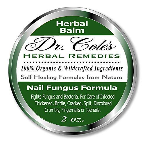Dr. Cole's Organic Nail Fungus Treatment - Extra Strength, Herbal, Anti-fungal Treatment for Finger Nails & Toenails - Disinfects & Repairs Thick, Cracked, Flakey Nails - Safe for The Whole Family