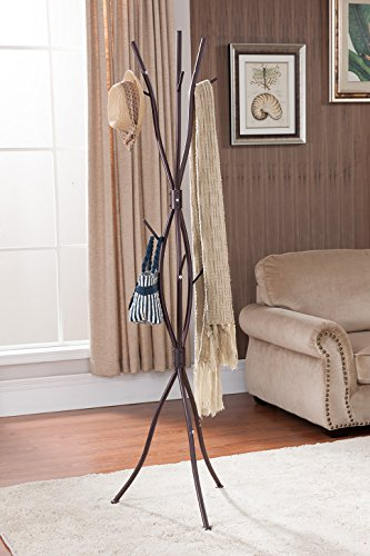 Kings Brand Bronze Finish Metal Tree Branches Coat & Hat Rack Stand - Kings Brand Bronze Finish Metal Tree Branches Coat & Hat Rack Stand. Bring a cool and contemporary look to your home with this metal coat rack. Designed with a unique branch styling, it adds a touch of nature to any room with its presence. Topped with a bronze metal finish, you can hang your coats, jackets, and scarves on your favorite coat rack. - entryway-furniture-decor, entryway-laundry-room, coat-racks - 51 oCFAS%2BLL -