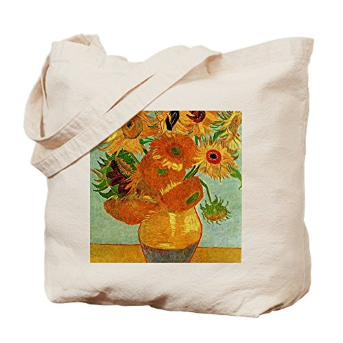 (CafePress Van Gogh - Still Life Vase With Twelve Su Natural Canvas Tote Bag, Cloth Shopping Bag)