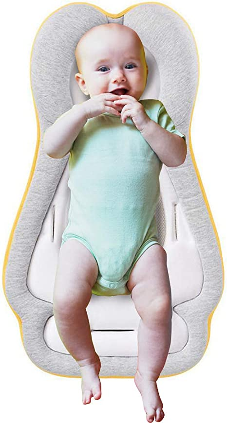 Baby Lounger for Bed Portable Baby Nest for Newborn Baby 0-3 Years Old Gray Star