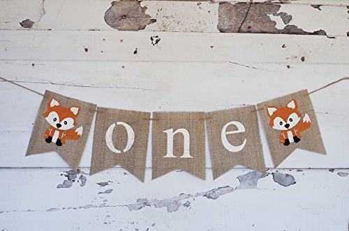 one-banner-a-fox-one-banner-fox-highchair-banner-woodland-one-banner-1st-birthday