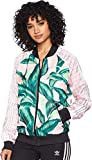 adidas Originals Women's Farm Superstar Tracktop, Green/Pink, M