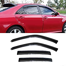 4pcs Front + Rear Car Sun Rain Guard Vent Shade Window Visor Wind Deflector Non In Channel for 2009-2015 Chevy Cruze