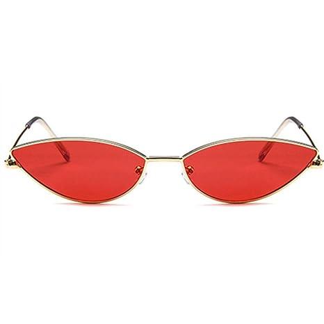 Yangjing-hl Gafas de Sol con Montura de Metal para Mujer ...