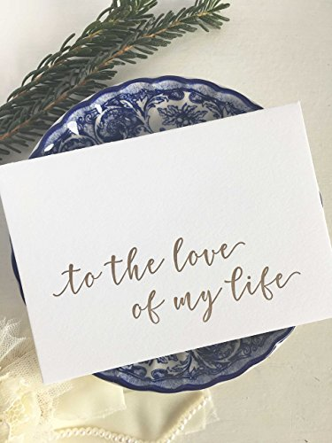 (To The Love Of My Life Wedding Card - Gold)