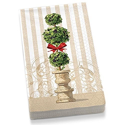 Epic Products Holiday Topiary Guest Towel Napkins (20 Pack), - Topiary Holiday