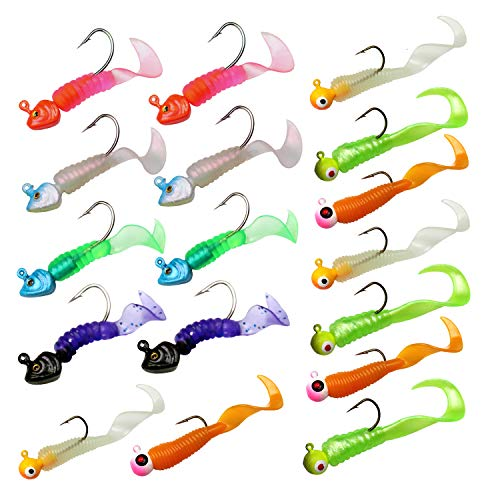 - THKFISH Fishing Jigs Fishing Soft Lures Fishing Jigs Head Fishing Baits Fishing Jigs Kit 7g/0.25oz 8g/0.28oz 17pcs