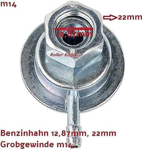 Benzinhahn Unterdruck Für 2 Und 4 Takt China Roller Retro Baotian Znen Benzhou M14 12 87mm 22mm Auto