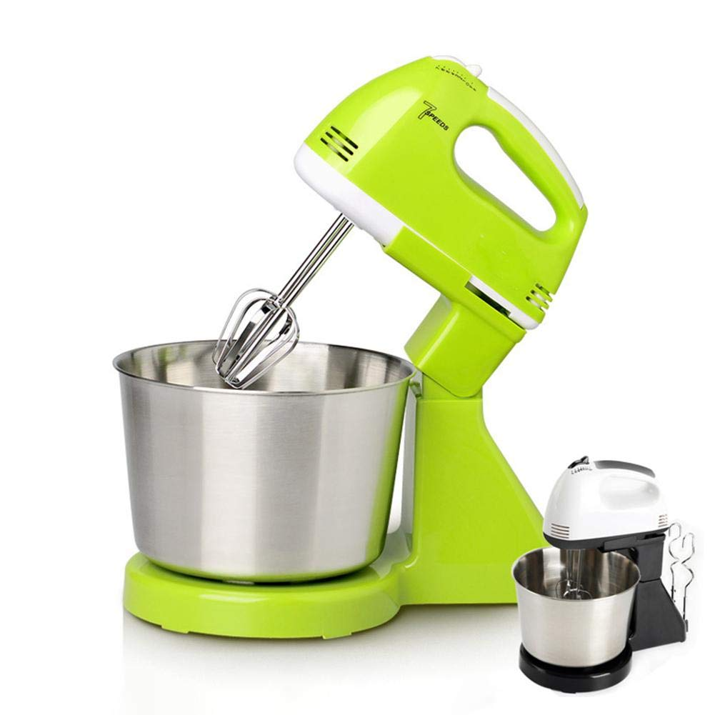 QWERTOUY 220V Kitchen Food Stand Mixer Cream Egg Whisk Blender Cake Dough Mixer by QWERTOUY