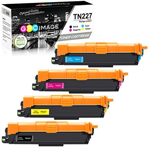 GPC Image Compatible Toner Cartridge Replacement for Brother TN227 TN-227 TN227bk TN223 fit for HL-L3210CW HL-L3230CDW HL-L3270CDW HL-L3290CDW MFC-L3710CW MFC-L3750CDW MFC-L3770CDW Printer (4 Pack) ()