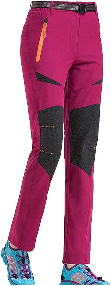 Haobing Adultos Pantalón de Trekking Pantalones de Escalada Ligero Stretch Pantalon Deportivos Senderismo Escalada