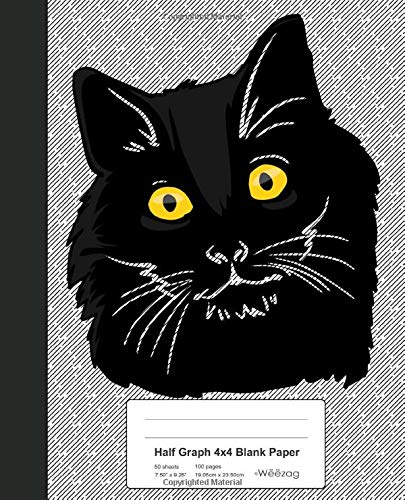 Half Graph 4x4 Blank Paper: Book Bombay Cat (Weezag Half Graph 4x4 Blank Notebook) Weezag