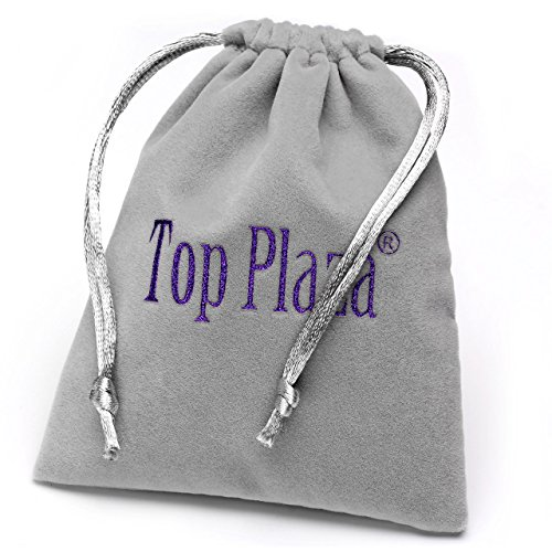 Top Plaza 3pcs Natural Amethyst Rose Quartz Crystal Multifaceted Dowsing Divination Reiki Pendulums
