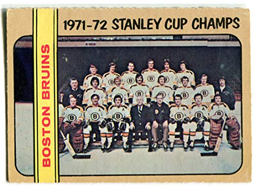 OPC 1972/73 Boston Bruins Team Card #276 Stanley Cup Champs