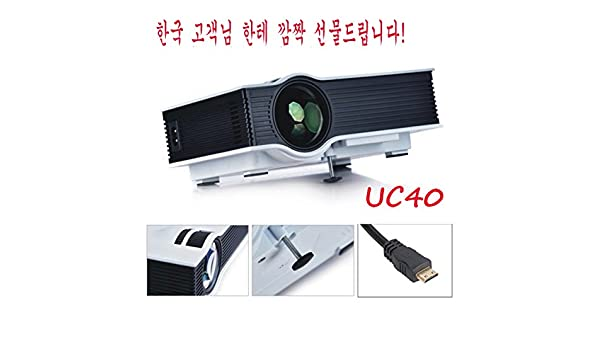 Proyector LED CALIENTE mini proyector Proyector UC40 original UNIC ...