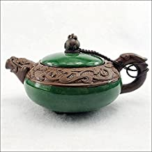 XDOBO China Ceramic Utensil Yixing Purple Clay Teapot Chinese Dragon Pattern Half-handmade Pottery Teapot Chinese Kungfu Teapot Cracked Ice Pattern