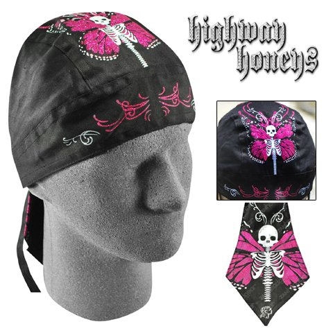 FLYDANNA, 100% COTTON, HIGHWAY HONEY, SKULL BUTTERFLY, Manufacturer: ZANheadgear, Manufacturer Part Number: ZHH16-AD, Stock Photo - Actual parts may vary.
