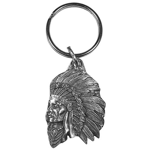 Siskiyou Indian Chief Antiqued Keyring