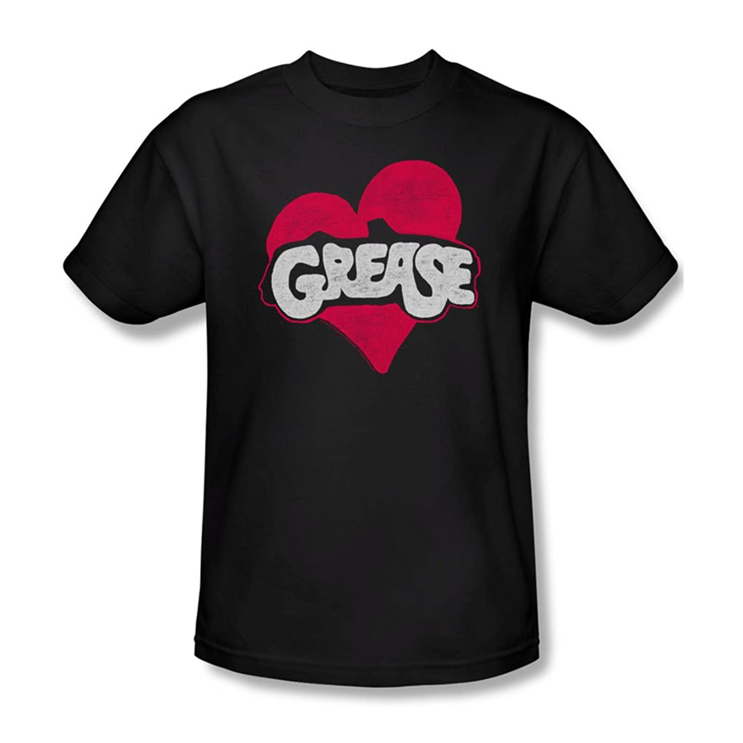 Grease - Mens Heart T-Shirt In Black